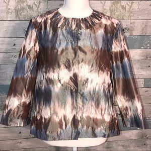 Chico's tie dye look jacket size 0             142
